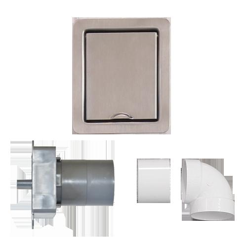prise compl te en inox extra plate aspiraumur. Black Bedroom Furniture Sets. Home Design Ideas